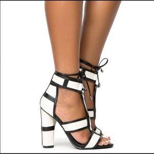 Shoes - Maura black & white block heels.  Gorgeous!!!